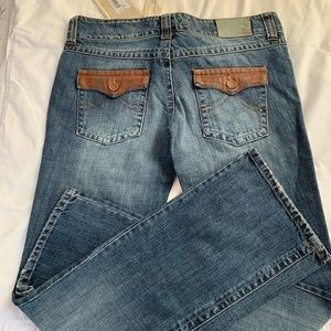 Denim - Jeans w leather accents NWT